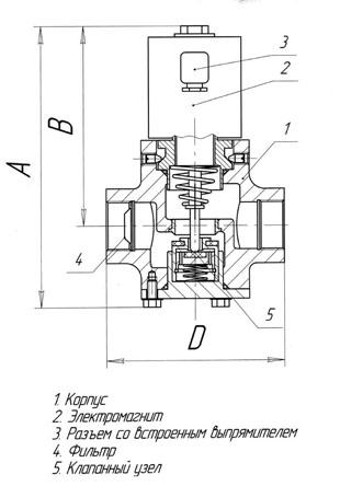 Клапан газовый КМГ-20НО-100 ТУ